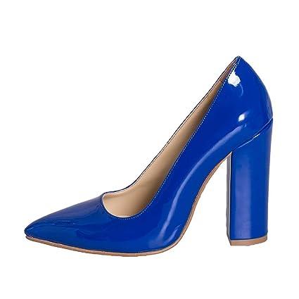 Taglia Scarpa Made Vernice Blu Con Numero 37 Il 10 In Cm Tacco IpfYwprq