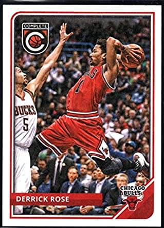 2d94c0c9f299 2015-16 Complete Basketball  219 Derrick Rose Chicago Bulls Official NBA  Trading Card made