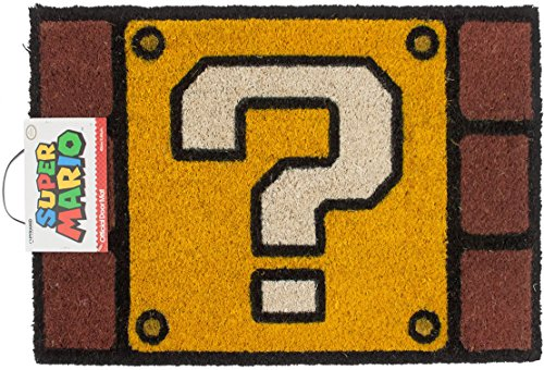 Odyssey Block - Super Mario Question Mark Block Door Mat