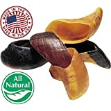 Natural Cow Hooves for Dogs (25 Pack) - Made in the USA Bulk Dog Dental Treats & Dog Chews Beef Hoof, American Made