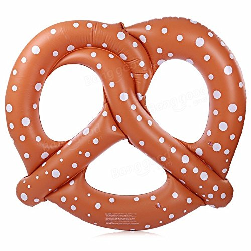Inflatable Bed Bread - Bread Pool Float - Pretzel Pontoon Board Floating Bed Swimming Pool Toy Inflatable Air Mattress (Cookie Pool Float)