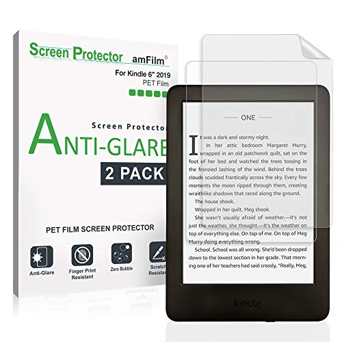 amFilm Anti-Glare Matte Screen Protector Film for Kindle 2019, Kindle 5th Gen, Kindle Paperwhite, Paperwhite 3 (2 Pack Screen Protector)
