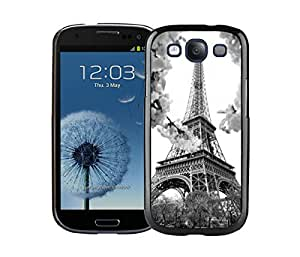 Element Samsung Galaxy S3 Case I9300 Durable Soft Silicone TPU Eiffel Tower Black Cell Phone Case Cover