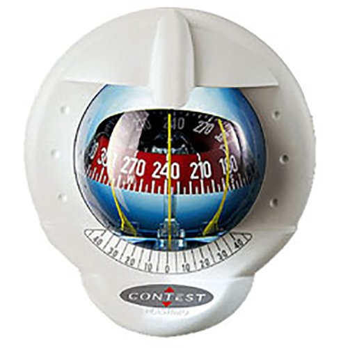 (Nautos 25487 - Contest 101 Compass- Mount Inclined 10 to 25 Degrees-White Compass with RED Card- PLASTIMO 64419)