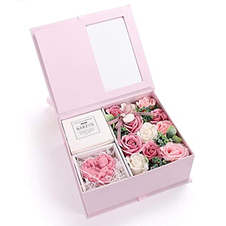 Foonee Valentinstag Rose Seife Badbar Handgemachte Seife