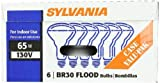 Sylvania 15172 65-Watt 130-Volt BR30 Indoor Flood Light, 24 Pack