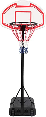 FCH Portable Basketball Hoop Height Adjustable Basketball Stand Backboard System