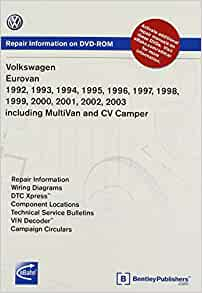 Volkswagen Eurovan 1992 1993 1994 1995 1996 1997 1998 1999 2000 2001 2002 2003 Including Multivan And Cv Camper Repair Manual On Dvd Rom Windows 2000 Xp Volkswagen Of America 9780837612621 Amazon Com Books