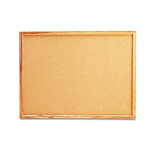 (Universal 43602 Cork Board with Oak Style Frame, 24 x 18, Natural, Oak-Finished Frame)