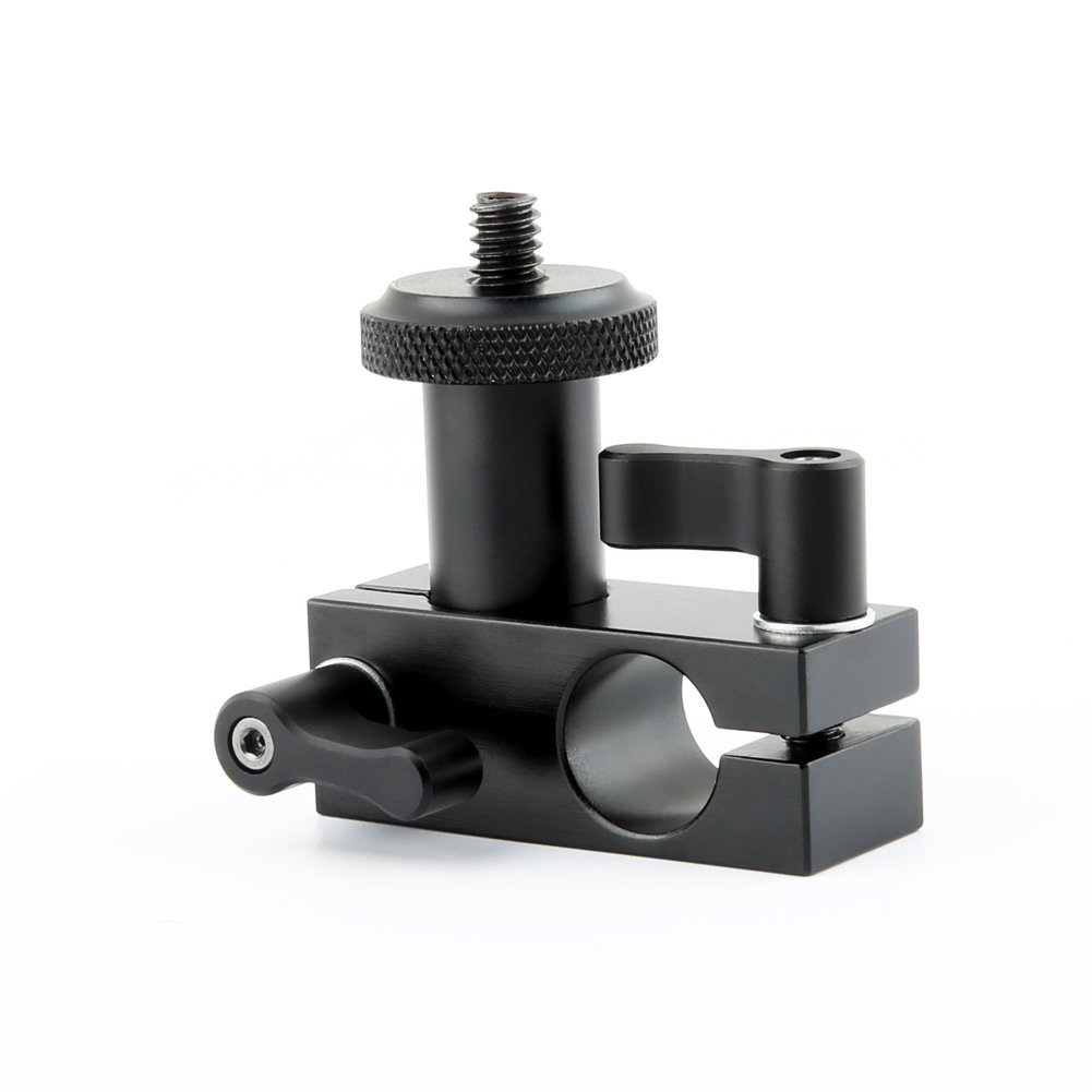 NICEYRIG 15mm Rail Block Rod Clamp Mount 90 Degree Angle for 15mm Rod Dslr Shoulder Rig