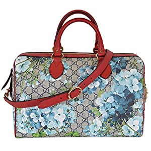 Gucci Women's GG Supreme BLOOMS Convertible Boston Bag