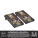 Victory Tailgate Operation Hat Trick East Carolina ECU Pirates Regulation Cornhole Game Set Onyx Stained Stripe Version