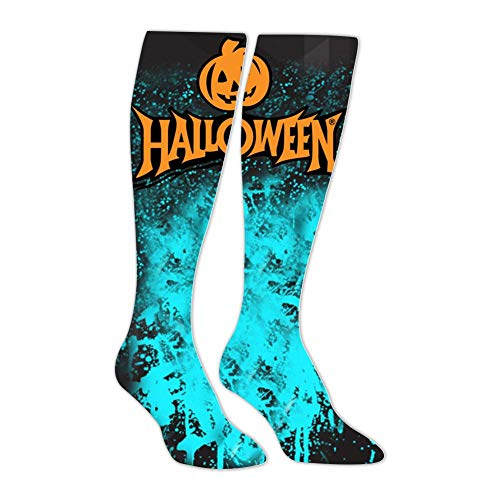 Knee High Stockings Halloween Logo Long Socks Sports Athletic for Man and Women