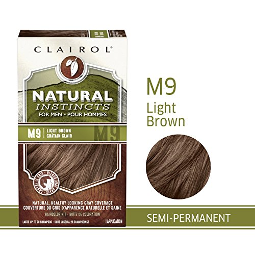 Clairol Natural Instincts Semi-Permanent Hair Color Kit For Men, 3 Pack, M9 Light Brown Color, Ammonia Free, Long Lasting for 28 Shampoos by Clairol (Image #6)