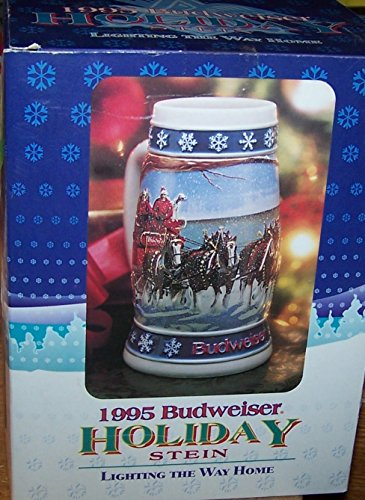- Budweiser Stein - 1995 Holiday Lighting the way Home