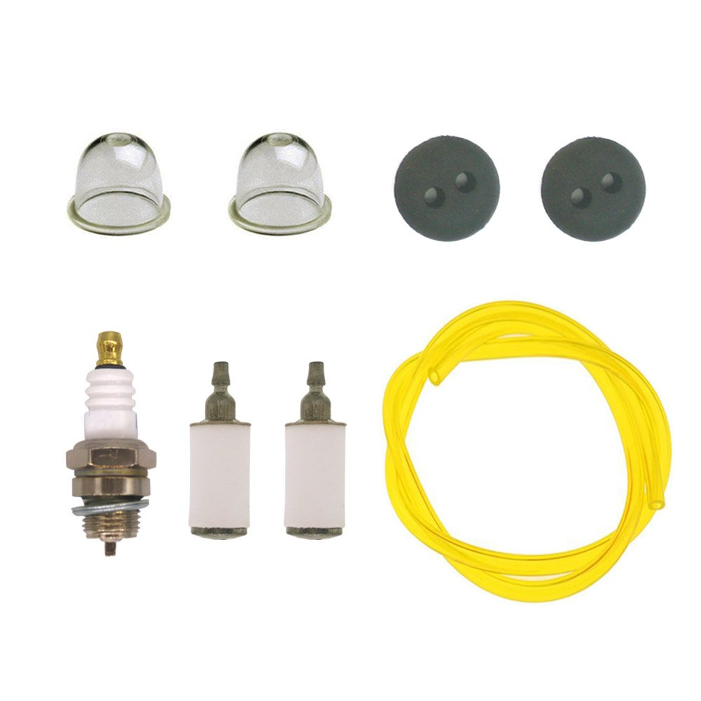 NIMTEK 3004105 300494 Repower Kit with Fuel Line Fuel Filter for Earthquake E43 E43CE E43WC 10310 Dually Auger Cultivator WE43 WE43E WE43CE Edger