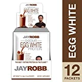 Jay Robb - Egg White Protein Powder, Outrageously Delicious, Chocolate, 12 Packets