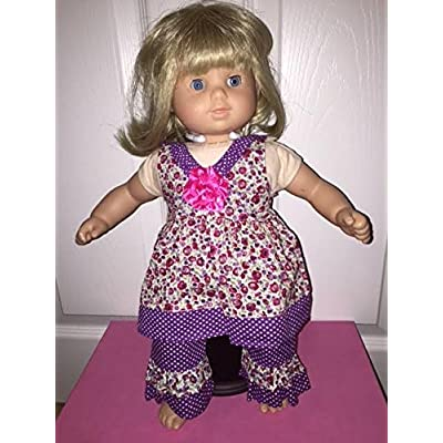 "Bitty Baby Purple Polka Dot Set - Fits 15-16"" American Girl Bitty Baby and Standard 15-16"" Sized Dolls: Toys & Games"
