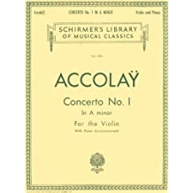 Concerto No. 1 in A Minor: Schirmer Library of Classics Volume 905 Violin with Piano Accompa