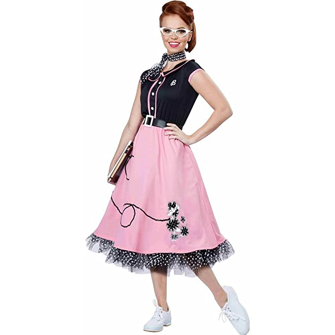 1950s Costumes- Poodle Skirts, Grease, Monroe, Pin Up, I Love Lucy 50s Poodle Skirt Sweetheart Adult Costume  AT vintagedancer.com