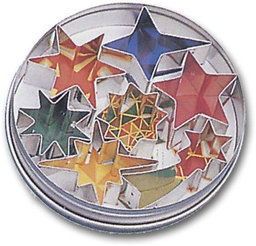 Paderno World Cuisine Assorted Shape Star Dough Cutters, 7-Piece Set