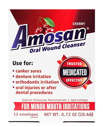 Amosan Oral Wound Cleanser – Cherry