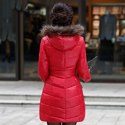 Outwear Jacket Lady cultivation Waist Eiderdown Down Coat Coat Section Long Down Thin Was Thin C Self nihiug Simple qBHwS5w