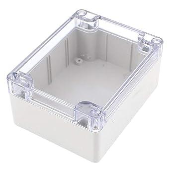 Caja de conexión hermética – Caja de proyectos electrónica de plástico con tapa transparente impermeable 115 x 90 x 55 mm, conexión eléctrica, caja de protección: Amazon.es: Industria, empresas y ciencia