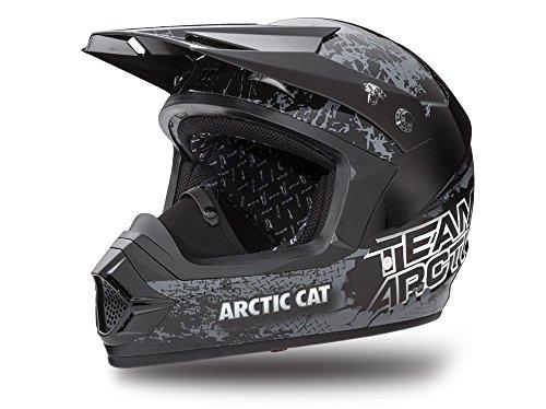 5262-424 Arctic Cat Unisex Adult Flip-Up MX Helmets Black, Large