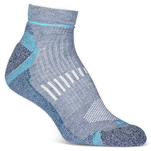 EMS Women's Fast Mountain Lightweight Coolmax Quarter Socks, Grey L ()