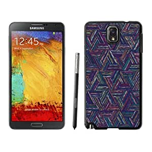 NEW Unique Custom Designed Samsung Galaxy Note 3 N900A N900V N900P N900T Phone Case With Triangle Colored Lines Digital Art Pattern_Black Phone Case
