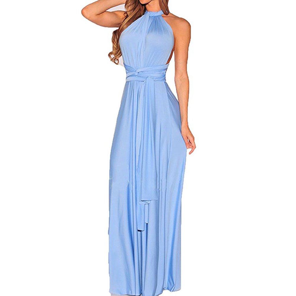 Women Convertible Multi Way Wrap Maxi Dress malianna
