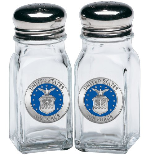 (1pc, Pewter Air Force Salt & Pepper Shakers)