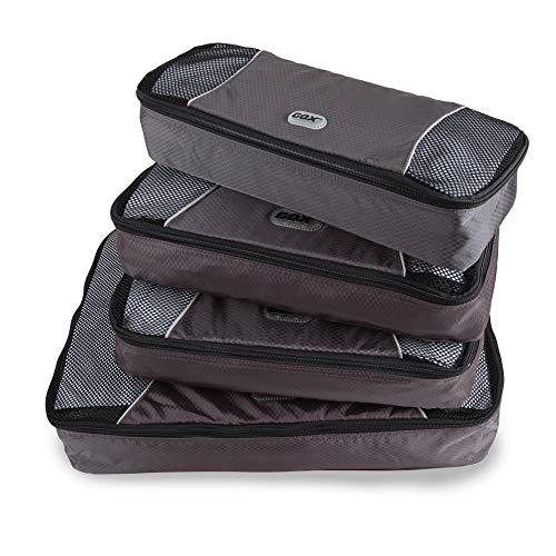 GOX Upgraded 4 piece Packing Cubes Travel Luggage Organizers 1 Large 2 Medium 1 Slim