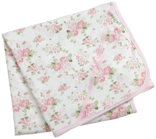 Little Me Cabbage Rose Tag along Blanket