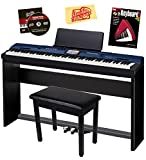 Casio Privia Pro PX-560 Digital Piano Bundle with Casio CS-67 Stand, SP-33 Pedal, Bench, Instructional Book, Austin Bazaar Instructional DVD, and Polishing Cloth - Blue