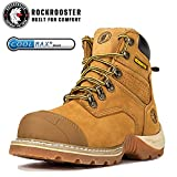 ROCKROOSTER Work Boots for Men, Soft Toe Waterproof Safety Working Shoes(AP360-soft, 10-DKB)