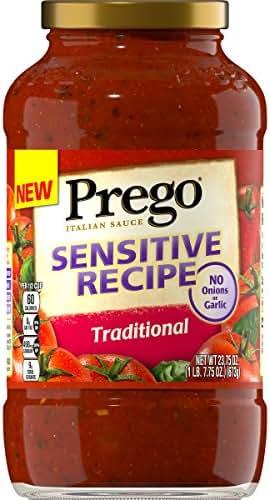 Pasta Sauce: Prego Sensitive Recipe