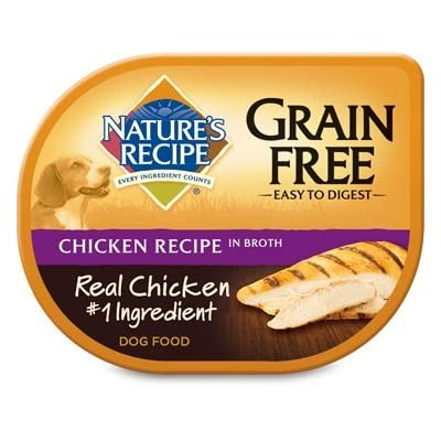Nature's Recipe Wet Dog Food Grain-Free Chicken Recipe in Broth, 2.75 oz trays (24 in a case)