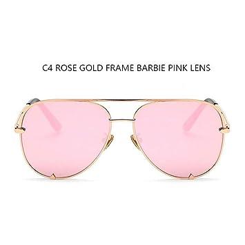 HYUHYU Gafas De Sol De Moda De Color Rosa para Mujer De ...