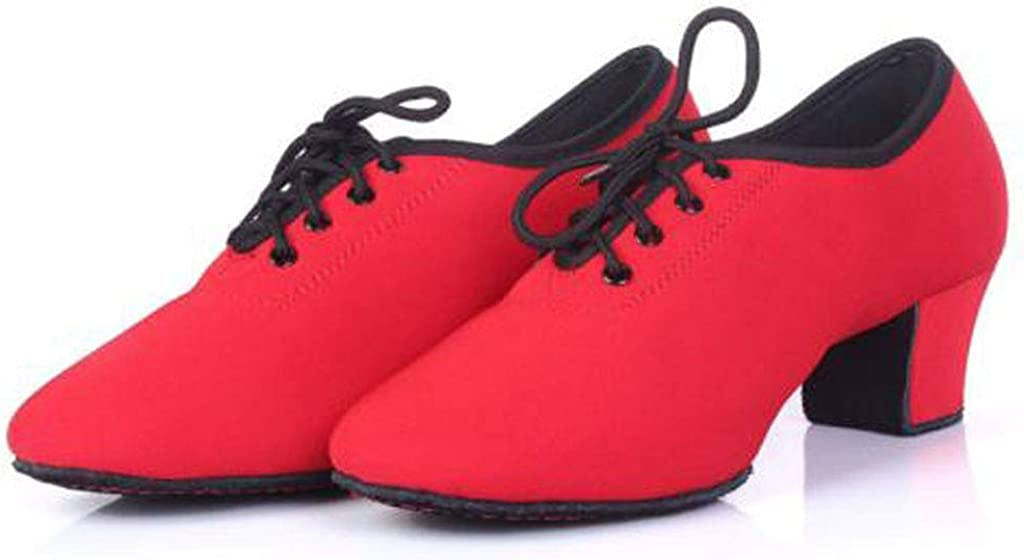 Latin Dance Shoes Teacher Shoes Oxford Cloth with Square Dance Shoes Mallcas Fashion Soft Outsole Practice Sneaker