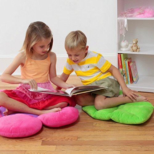 Floor Bloom Soft and Cozy Green Leaf Floor Pillow for Kids - Import ...