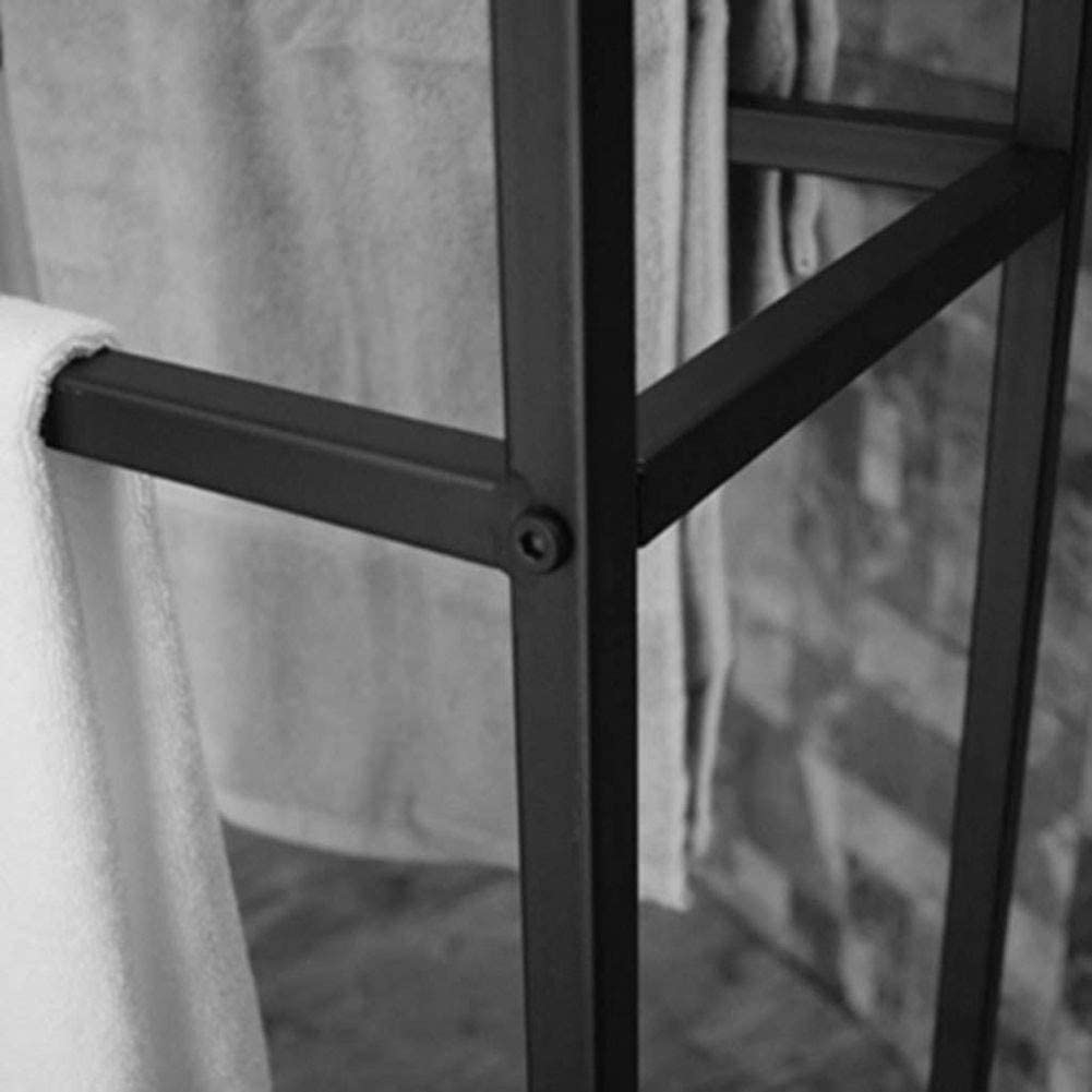 Au/ßenpool Handtuchw/ärmer Dmjj Freistehende Handtuchhalter Regal F/ür Badezimmer K/üche Badezimmer Organizer Holdergold-65X20X110Cm dauerhaft//Schwarz // 65x20x110cm Handtuchst/änder Schwarz
