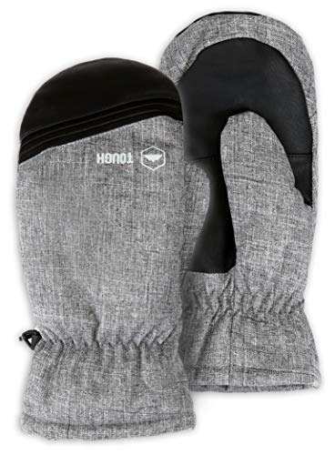 Tough Outdoors Winter Snow & Ski Mittens - Mitts Designed for Skiing, Snowboarding & Shoveling - Waterproof Nylon Shell, Thermal Insulation & Synthetic Leather Palm - Fits Men & Women
