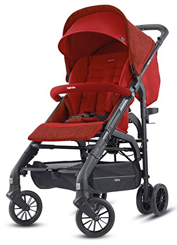 Inglesina Zippy Light Stroller - Car Seat Compatible Lightweight Stroller with Premium Accessories Included {Brick Red}