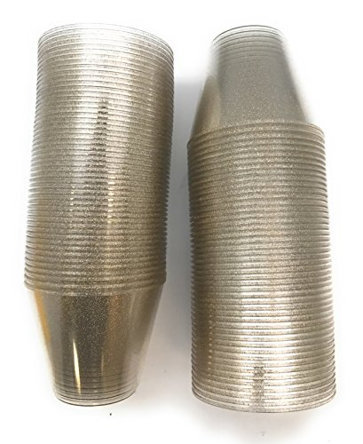 100 count Glitter 9 oz Party Cups Old Fashioned Tumblers by Oojami (Gold) by Oojami