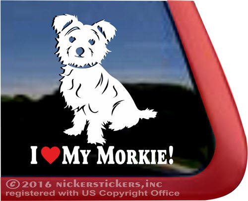 I Love My Morkie Car Sticker
