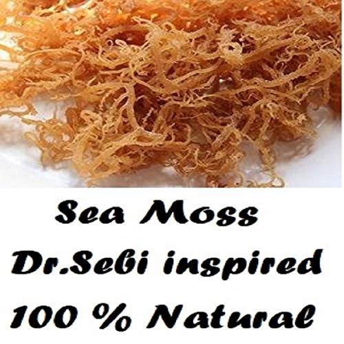 NATURAL,SEA MOSS (RAW) 8 0Z - IRISH MOSS ,CHONDRUS CRISPUS,Jamaica Drink Below
