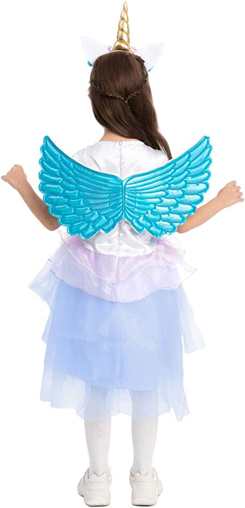 Themed Parties Role Play and More! Princess Unicorn Costume Dress Halloween for Kids Halloween Costume Cosplay Photo Booth