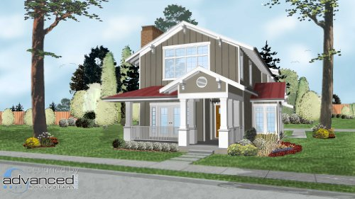 Story House Two Plans (Advanced House Plans AHP-29350 Middleton 2 Story House Plan)